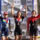 Women's podium: Anthony, McFadden and Gilbert. 2017 Resolution Cross Day 2. © Heather Sawtelle