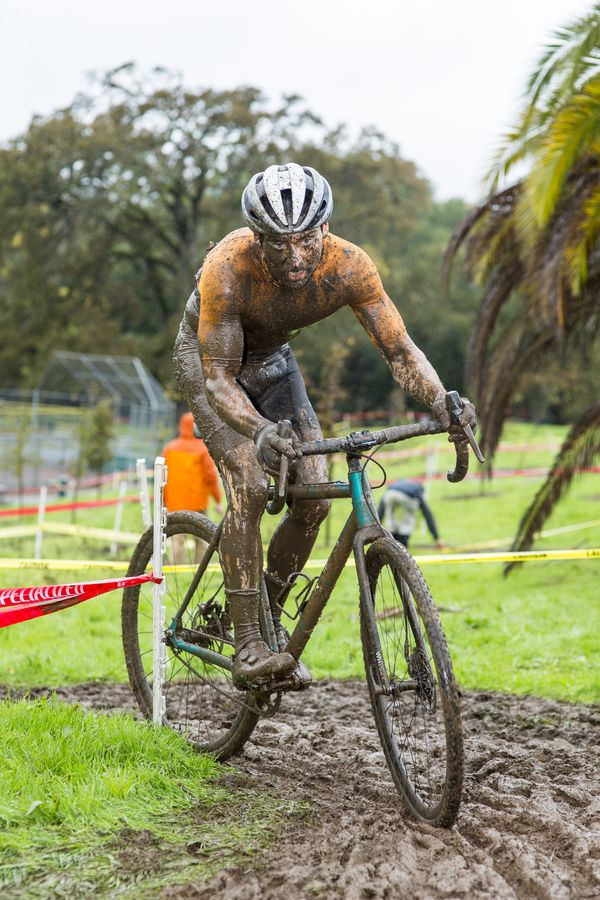 Ryan Rinn gets a muddy ride in. 2017 CX Nation Cup. © B. Stendor
