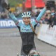 Evie Richards celebrates her win at Namur. 2017 World Cup Namur. © B. Hazen / Cyclocross Magazine