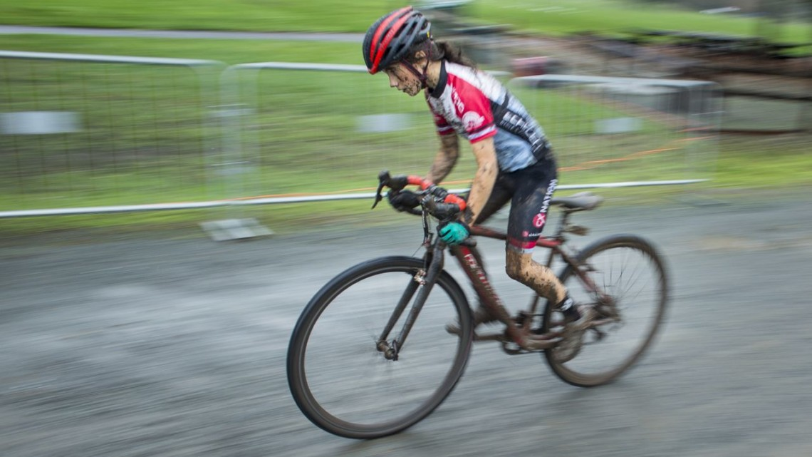 Vida Lopez de San Ramon was one of the Juniors who participated in the race. 2017 CX Nation Cup. © B. Stendor