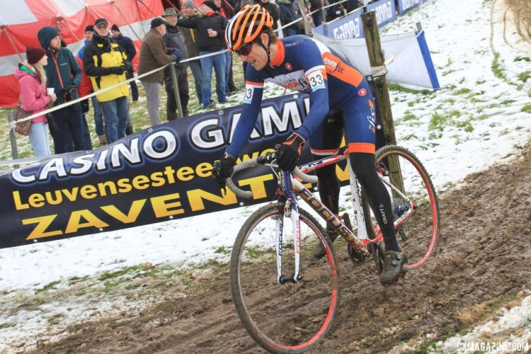 Corey Coogan Cisek of Minnesota is doing a block of Euro racing. 2017 Vlaamse Druivencross. © B. Hazen / Cyclocross Magazine