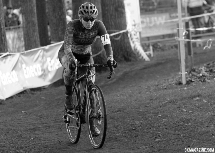 Rebecca Fahringer added another Kerstperiode race to her European campaign. 2017 Azencross Loenhout. © B. Hazen / Cyclocross Magazine