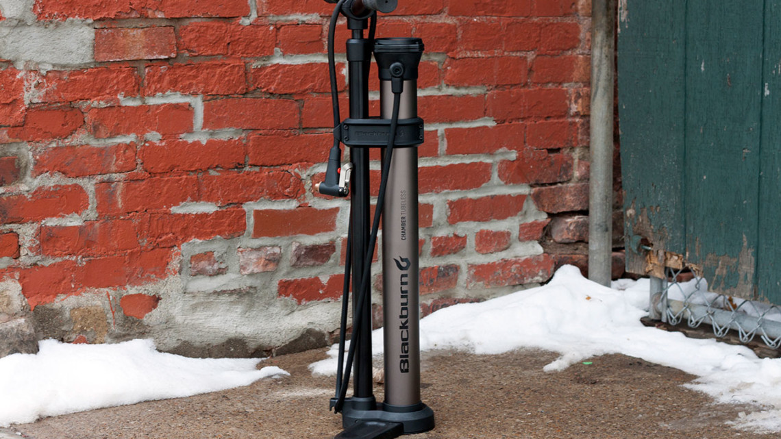 The Blackburn Chamber Tubeless Floor Pump retails at $149 and is at your local shop now. © Cyclocross Magazine