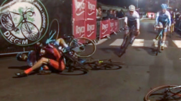 2017 Superprestige Diegem Video: Mathieu van der Poel comeback from crash.
