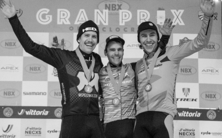 Men's podium: Lindine, Thompson and White. 2017 NBX Gran Prix of 'Cross Day 2. photo: Angelica Dixon