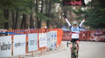 Ruby West celebrates her win. 2017 NBX Gran Prix of 'Cross Day 2. photo: Angelica Dixon