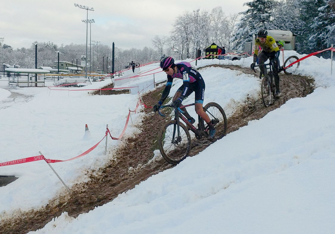 The 2017 NCGP was, uh, snowy. 2017 North Carolina Grand Prix Day 1. photo: Laura Rice