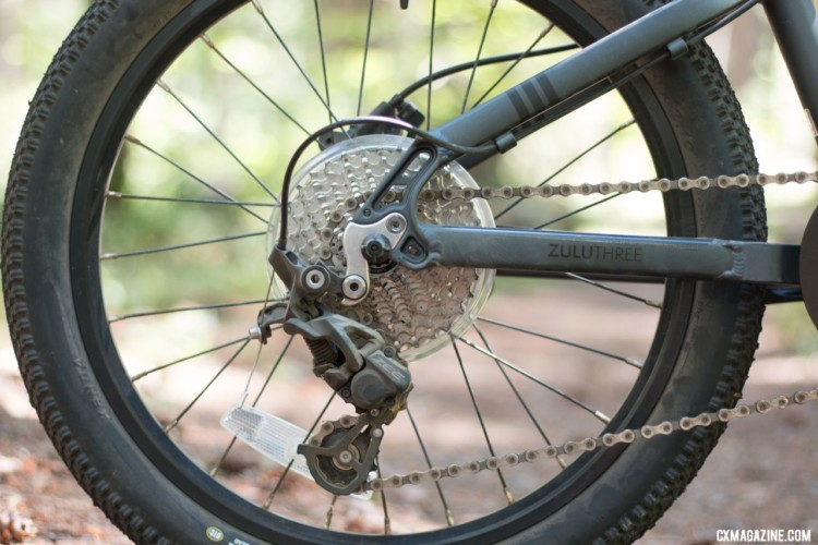 """Prevelo Zulu Three 20"""" wheel mountain bike features a Shimano Zee clutch rear derailleur to keep the chain quiet and on the chain ring. © Cyclocross Magazine"""