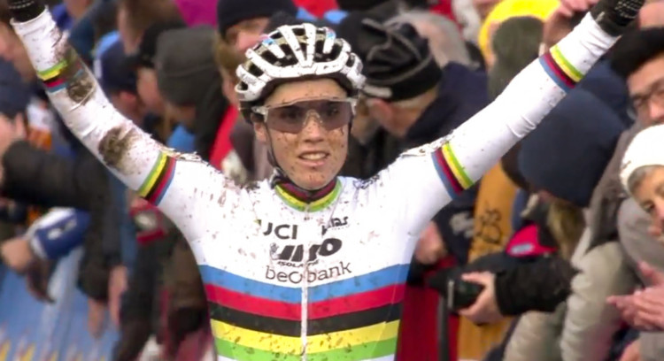 Sanne Cant wins the 2017 Soudal Scheldecross cyclocross race.