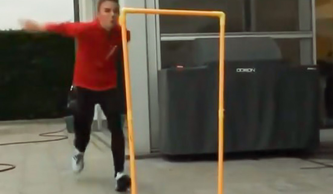 Thibau Nys Instagram video of his workouts