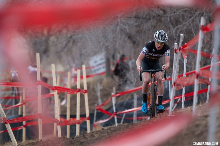 Eric Brunner led a CU-Boulder stampede in Reno. 2018 Cyclocross National Championships. Collegiate Club Men. © A. Yee / Cyclocross Magazine