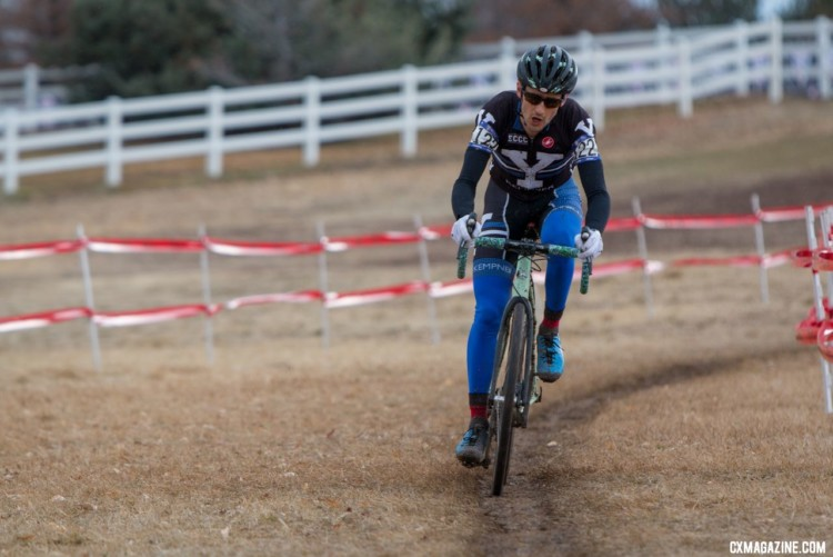 Yale's Michael Landry had a strong fifth-place ride. 2018 Cyclocross National Championships. Collegiate Club Men. © A. Yee / Cyclocross Magazine
