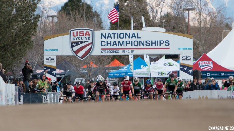 Collegiate Club Women! 2018 Cyclocross National Championships. © A. Yee / Cyclocross Magazine