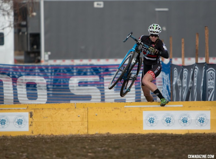 Jen Malik is working on becoming the next Cyclocross Doctor. Collegiate Club Women. 2018 Cyclocross National Championships. © A. Yee / Cyclocross Magazine
