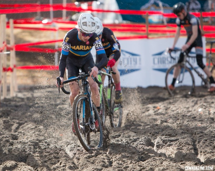 Caleb Swartz rode a strong race to take third. 2018 Cyclocross National Championships, Collegiate Varsity Men. © A. Yee / Cyclocross Magazine