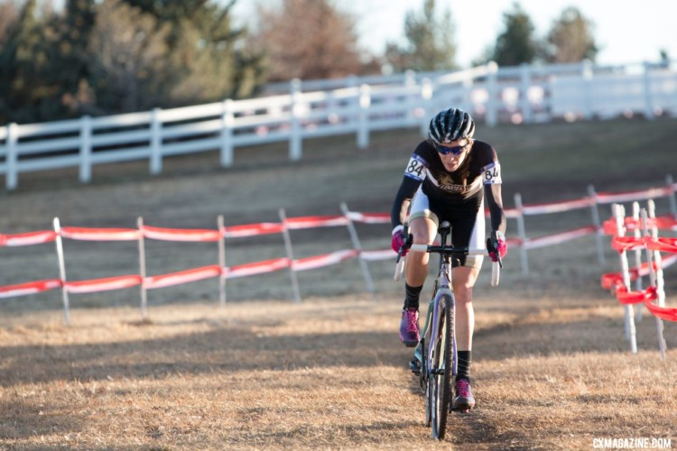 Sammi Runnels got off to a fast start in her first collegiate race. Collegiate Varsity Women. 2018 Cyclocross National Championships. © A. Yee / Cyclocross Magazine
