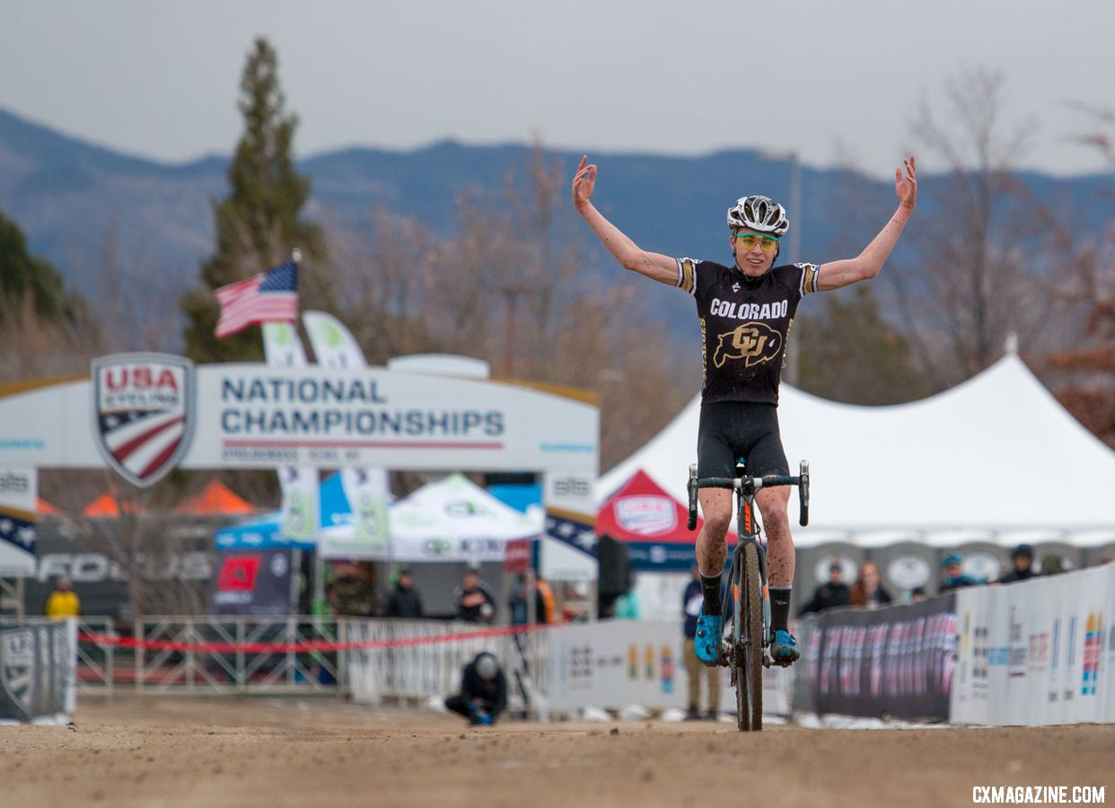 Eric Brunner Wins Collegiate Club Title 2018 Cyclocross Nationals