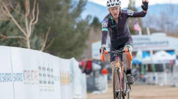 John Elgart took the win in the Masters 70-74 race. 2018 Cyclocross National Championships. © A. Yee / Cyclocross Magazine