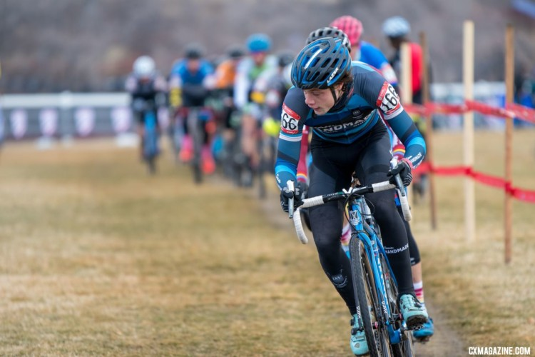 Michael Larson of Indiana took second on Thursday. Masters Men 30-34. 2018 Cyclocross National Championships. © J. Vander Stucken / Cyclocross Magazine