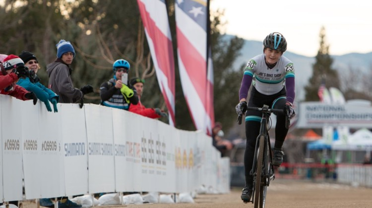 Carla Williams of Virginia took the win in the Women's Masters 30-34 race in Reno. 2018 Cyclocross National Championships, Women Masters 30-34. © A. Yee / Cyclocross Magazine