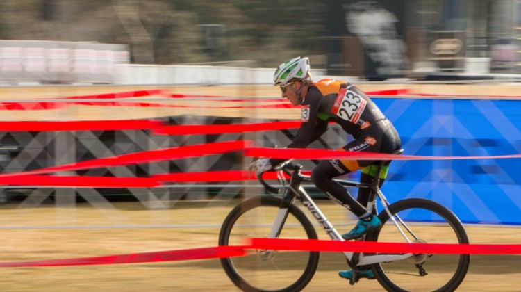 Kevin Day wins the Masters 35-39. 2018 Cyclocross National Championships. © A. Yee / Cyclocross Magazine