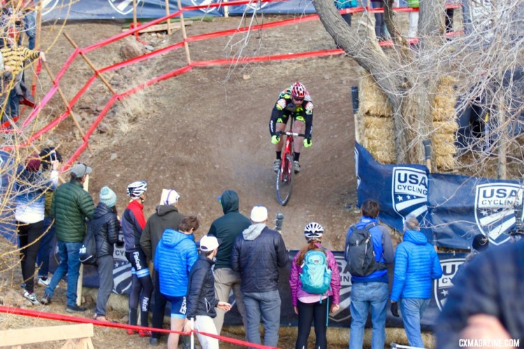 After Heinrich got off the front, other riders had work to do to bring him back. Masters 50-54. 2018 Cyclocross National Championships. © D. Mable/ Cyclocross Magazine