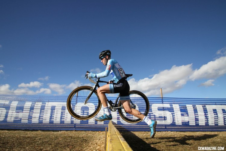 Roger Aspholm chased to third. Masters 50-54. 2018 Cyclocross National Championships. © D. Mable/ Cyclocross Magazine