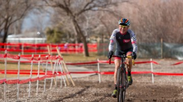 CXM contributor Lee Waldman got his chance to race at Nationals on Wednesday. Masters 65-69. 2018 Cyclocross National Championships. © A. Yee / Cyclocross Magazine