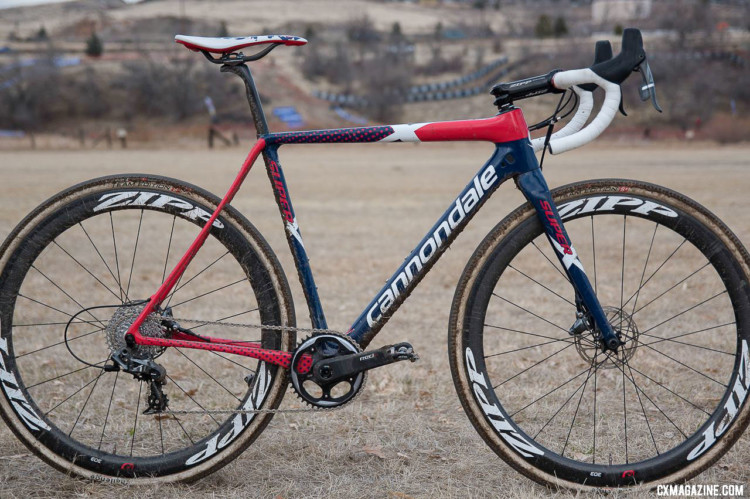 Stephen Hyde's 2018 Cyclocross National Championship-winning Cannondale SuperX fresh off his win in Reno. © C. Lee / Cyclocross Magazine