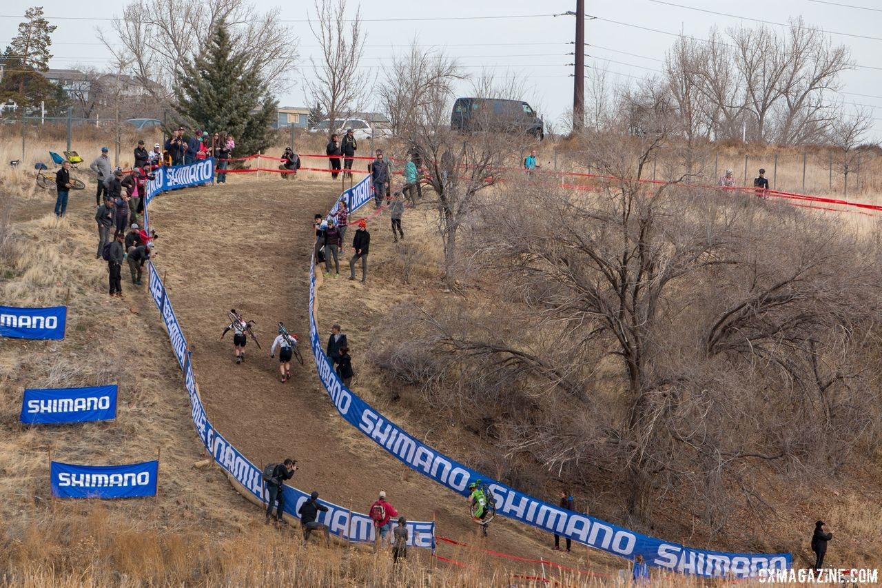 A day race would give organizers the option of using the hillside again. 2018 Cyclocross National Championships. © A. Yee / Cyclocross Magazine