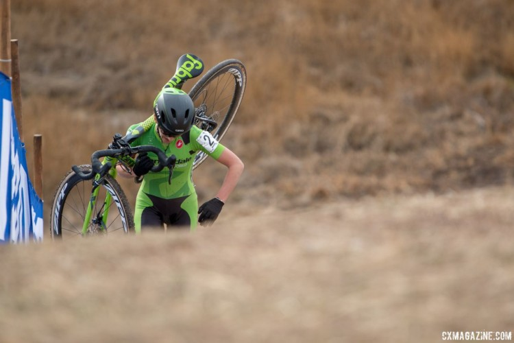 Kaitie Keough ran to a third-place finish in Reno. 2018 Cyclocross National Championships. © A. Yee / Cyclocross Magazine