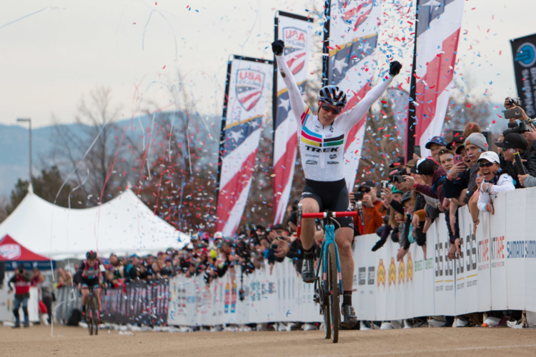 Katie Compton knows a thing or two about U.S. Nationals excellence. 2018 Cyclocross National Championships. © A. Yee / Cyclocross Magazine
