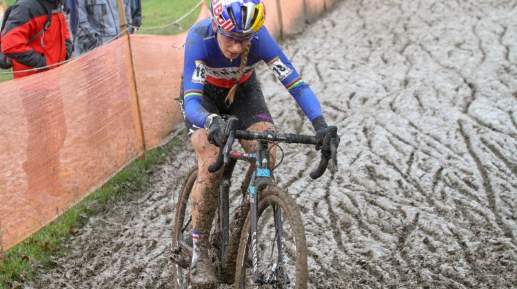 Ferrand Prevot looks ready for Worlds with a bronze medal today. Nommay UCI Cyclocross World Cup - Elite Women. © B. Hazen / Cyclocross Magazine