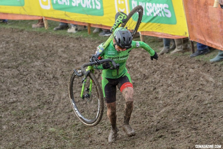 Keough overcame her disappointing 2018 Nationals ride in Reno with a second place at the Nommay UCI Cyclocross World Cup, cementing her top three overall standings. - Elite Women. © B. Hazen / Cyclocross Magazine