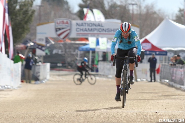 Susan Bernatas won the Masters 60-64 race in Reno. 2018 Cyclocross National Championships, Women Masters 60-64. © D. Mable / Cyclocross Magazine