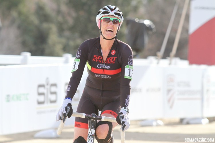 Tove Shere won the Masters 65-69 title on Friday. 2018 Cyclocross National Championships, Women Masters 65-69. © D. Mable / Cyclocross Magazine