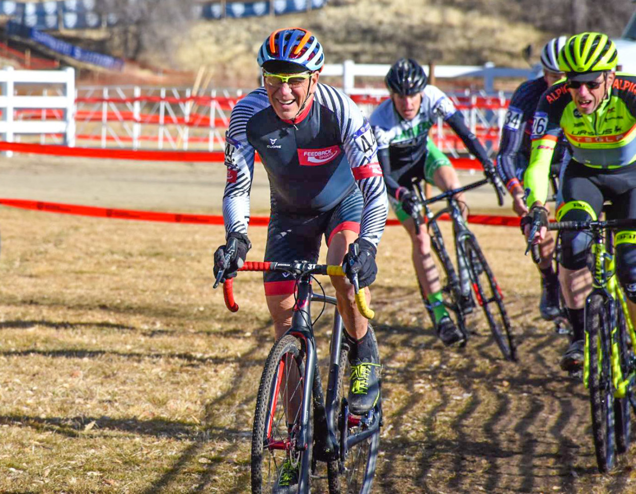 Taking time for rest has helped Waldman feel stronger when he does race. 2018 Reno Cyclocross Nationals. photo: courtesy