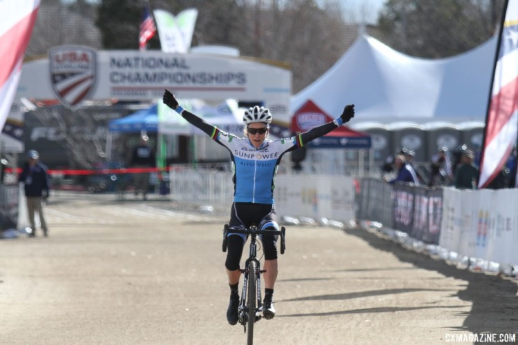 Karen Brems came back to win the Masters 55-59 race. 2018 Cyclocross National Championships, Women Masters 55-59. © D. Mable / Cyclocross Magazine