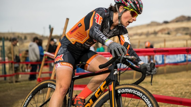 Arley Kemmerer was fearless out on the course and finished just outside the top ten. 2018 Cyclocross National Championships. © J. Curtes / Cyclocross Magazine