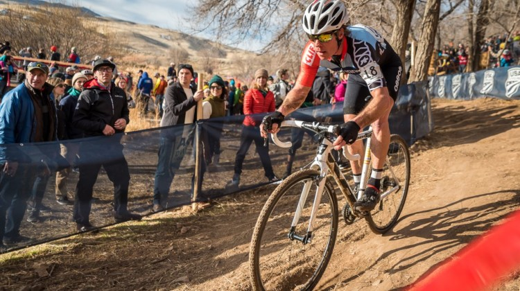 Jonathan Page rode into the top ten during his last race as a professional. 2018 Reno Cyclocross National Championships. © J. Vander Stucken / Cyclocross Magazine