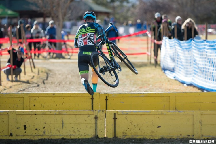 Jake Wells had smooth sailing in front of him. Masters 40-44. 2018 Cyclocross National Championships. © J. Vander Stucken / Cyclocross Magazine