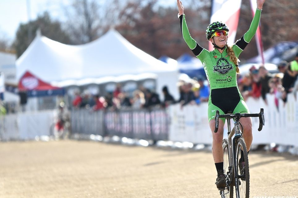 Katie Clouse won the Junior Women's race and got a bronze in the U23 Women's race. 2018 Cyclocross National Championships. © D. Mable/ Cyclocross Magazine