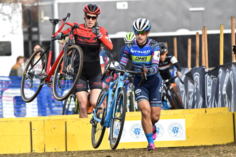 Courtenay McFadden rode to a fourth-place finish. 2018 Reno Cyclocross National Championships, Elite Women. © J. Vander Stucken / Cyclocross Magazine