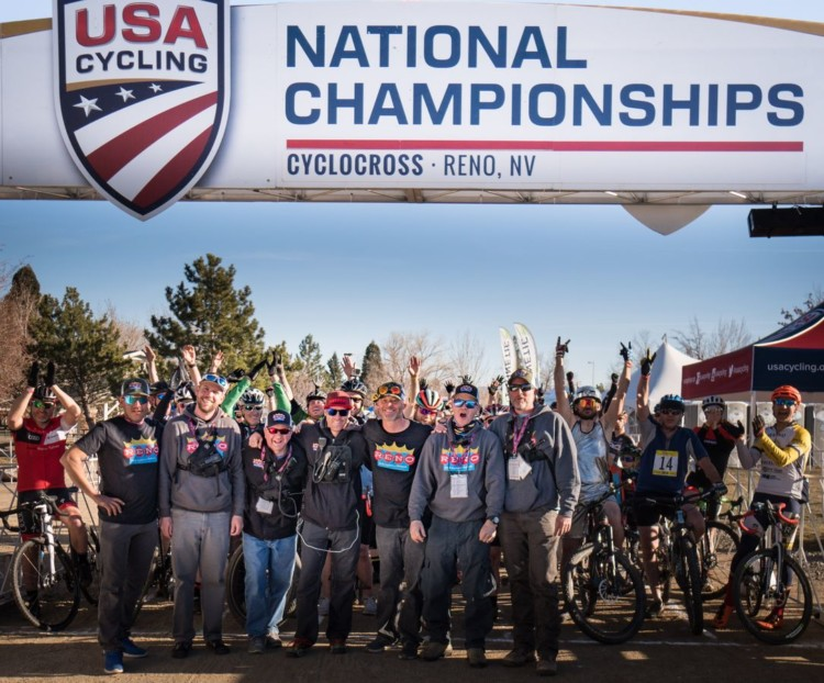 Coby Rowe and his Reno Cyclocross team are taking over the RenoCross race. photo: Bill Schieken