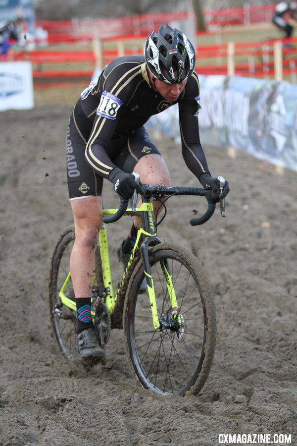 Maxx Chance finished fourth. Collegiate Club Men. 2018 Cyclocross National Championships. © D. Mable / Cyclocross Magazine
