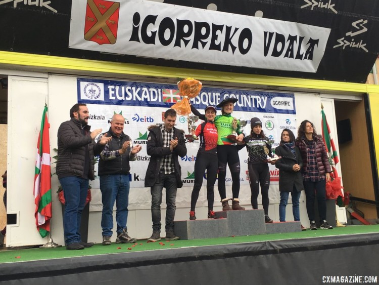 Elle Anderson won her first career European race in Igorre last month. photo: courtesy