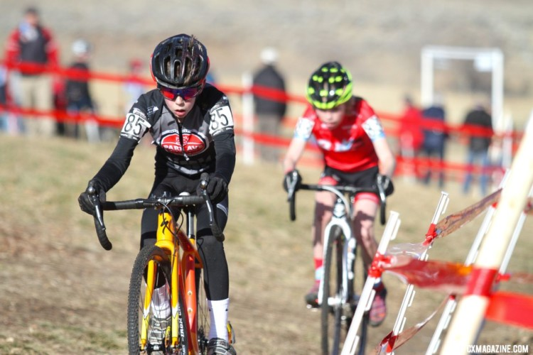 Miles Mattern finished second. Junior Men 11-12. 2018 Cyclocross National Championships. © D. Mable/ Cyclocross Magazine