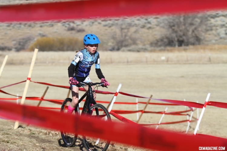 Lucy Voss finished on the podium in Reno. Junior Women, 11-12. 2018 Cyclocross National Championships. © D. Mable/ Cyclocross Magazine