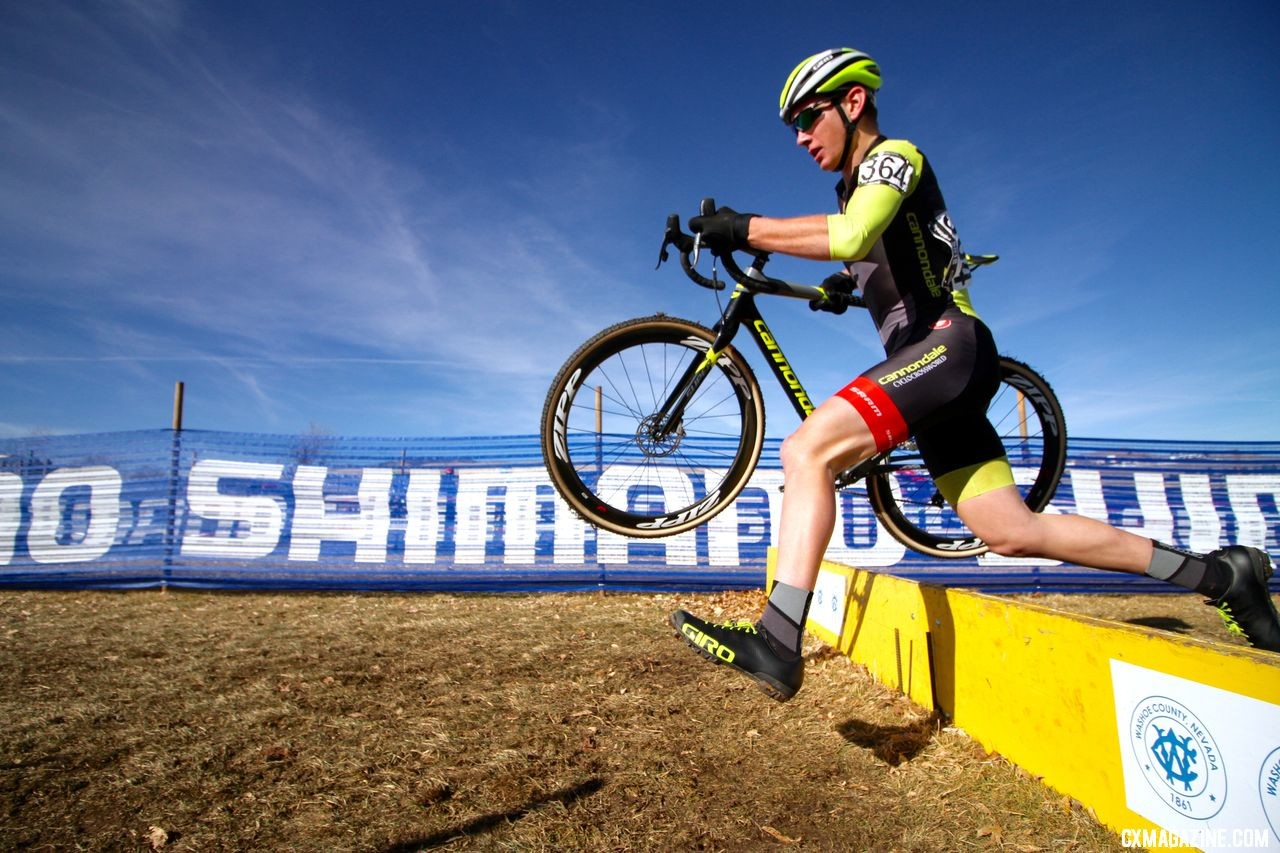 Work on doing skills right first, then do them faster. Junior Men 15-16. a2018 Cyclocross National Championships. © D. Mable/ Cyclocross Magazine