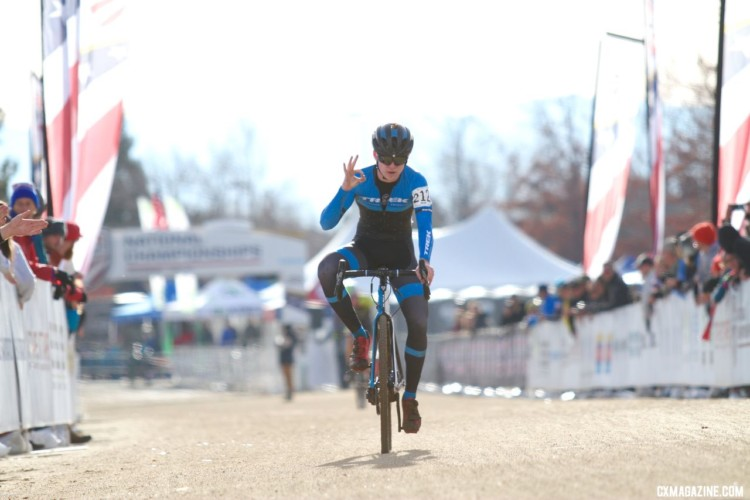 Third is OK by McNeil. Junior Men. 2018 Cyclocross National Championships. © D. Mable/ Cyclocross Magazine